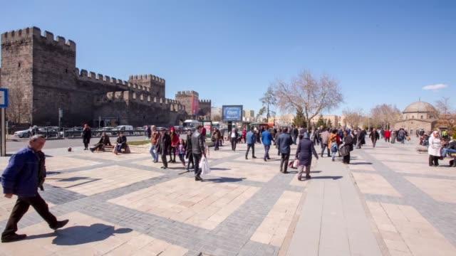 visuelles bildende bild vom platz der republik in kayseri/türkei kayseri/türkei 22.03.2017 - ankara türkei stock-videos und b-roll-filmmaterial