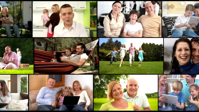HD MONTAGE: Visual Screen Of Happy Families video