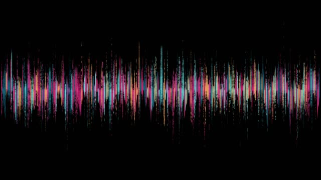 visualization of audio wave - frequenza video stock e b–roll