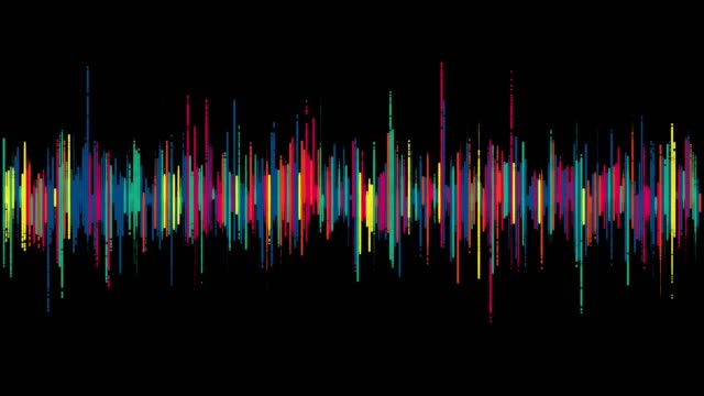 visualization of audio wave