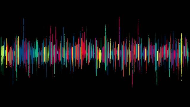 音声波形の可視化 - 音波点の映像素材/bロール
