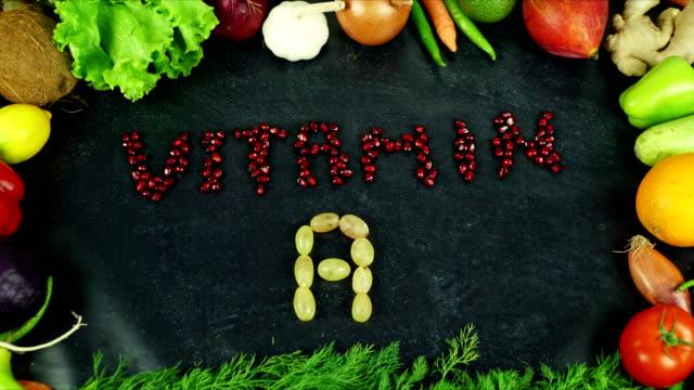 ビタミン フルーツ ストップ モーション - ビタミン類点の映像素材/bロール