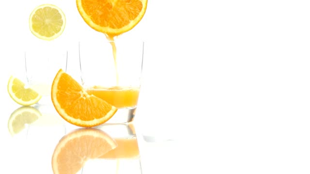 vitamin c concept orange lemon juice aspirin tablet video