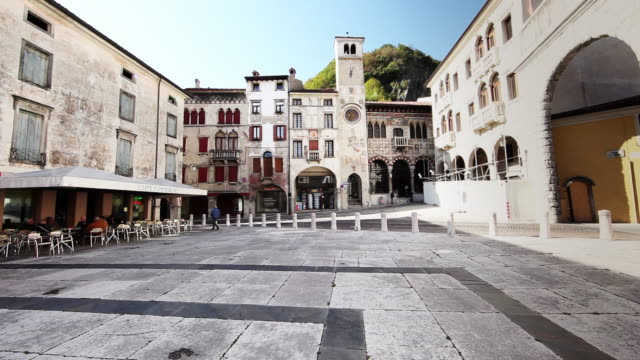 Vitorio Veneto, Italian Town 4K Piazza in Vitorio Veneto, a 16th Century Italian Town dormir stock videos & royalty-free footage