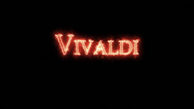 vidéos et rushes de vivaldi écrit avec le feu. boucle - compositeur