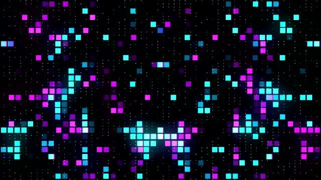 Fond Abstrait carrés colorés VJ - Vidéo