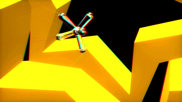 vj, geometric shapes. 3d, stereoscopic, anaglyph video