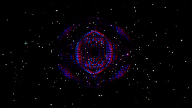 vj, Star on a black background. 3d, stereoscopic, anaglyph video