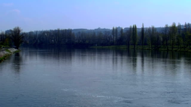 Vltava river view in Prague video