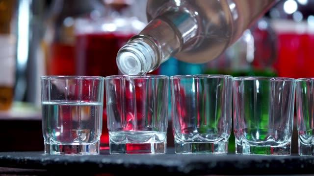 vodka shots - vodka video stock e b–roll