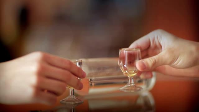 vodka brindisi - vodka video stock e b–roll