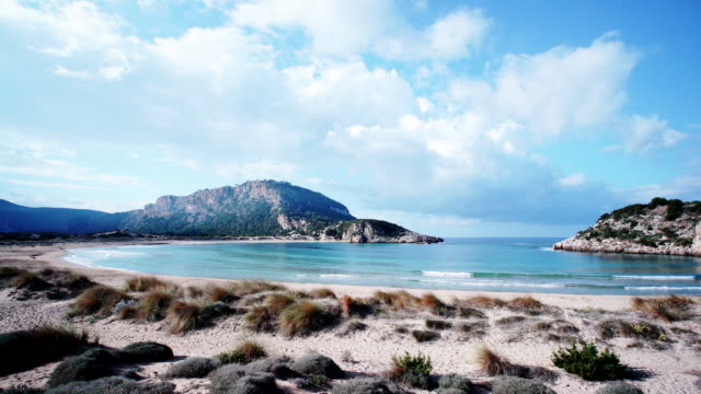 Voidokilia beach in Greece The famous Voidokilia Beach in Messinia Greece Peloponnese, mediterranean Europe. Holidays travel adventure concept. greek islands stock videos & royalty-free footage