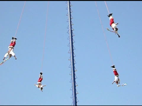 Voladore Flying Indian Pole Dancers in Papantla Mexico video