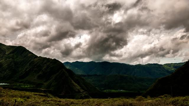 Volcán pululahua valley timelpase quito, ecuador - vídeo