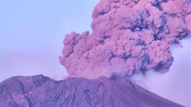 HD: Volcanic eruption of Sakurajima volcano. Time lapse (video) video