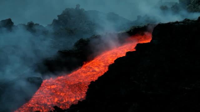 Volcanic erupts video