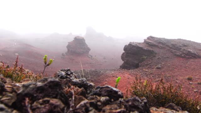 Volcanic land and rain - Reunion Island video