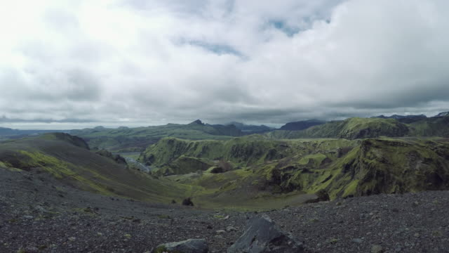 Volcanic landscape, 360 degree panoramic video