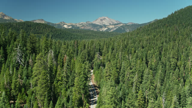 Volcanic Legacy Scenic Byway Near Lassen Volcanic National Park - Aerial