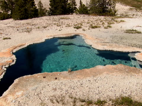 NTSC: Volcanic Pool in Yellowstone National Park scientific imaging technique stock videos & royalty-free footage