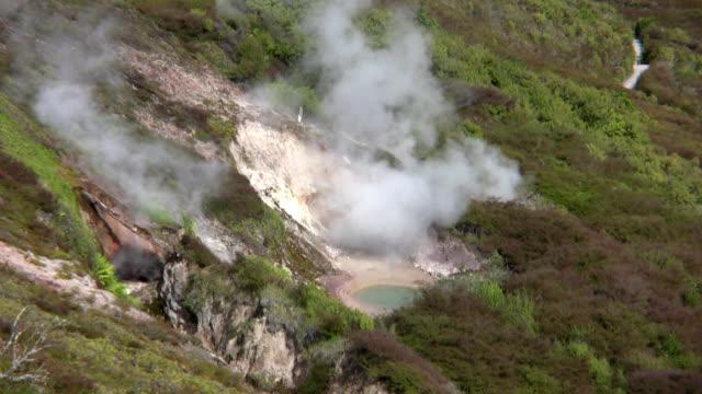 volcanic wonderland NZ canon hv30 oceania stock videos & royalty-free footage
