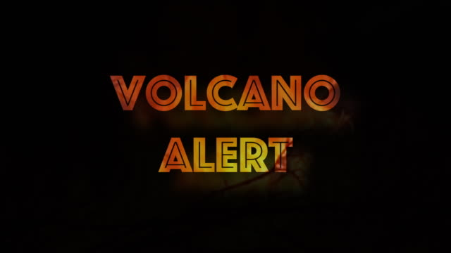 Image result for volcanic warning alert sign