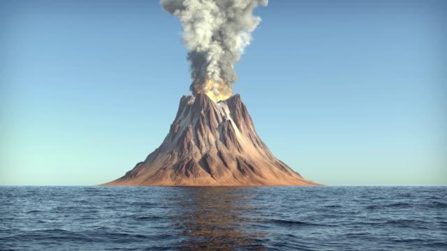 vulkanausbruch - vulkan stock-videos und b-roll-filmmaterial