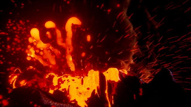 Volcano eruption video