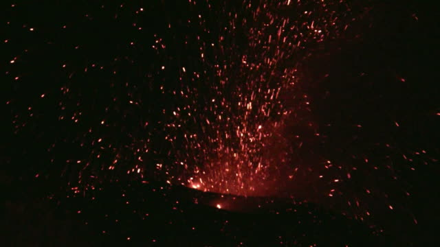 Volcano Etna eruption video