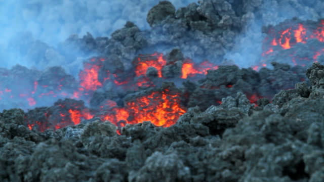 volcano lava flow video