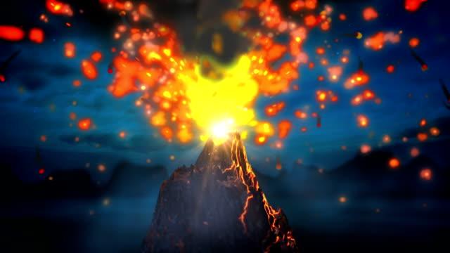 Volcano loop video