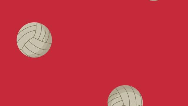 stockvideo's en b-roll-footage met voleyball ballen regent hd animatie - sportcompetitie