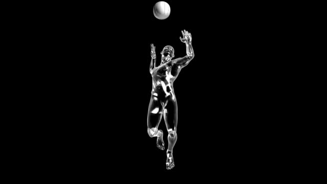 3d volleyball attack man - volleyball stock videos and b-roll footage