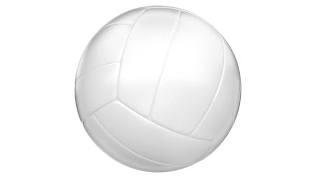 Pelota de voleibol spinning, en bucle, alpha matte, HD - vídeo