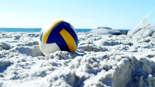 Volleyball in the beach 4k Volleyball in the beach on a sunny day 4k beach volleyball stock videos & royalty-free footage