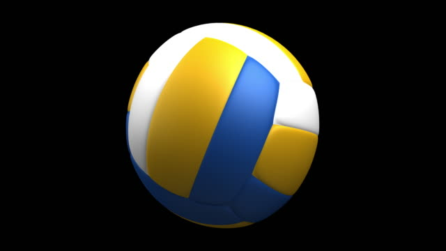 4k volleyball rotating loop luma matte - volleyball stock videos and b-roll footage