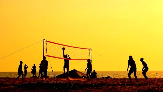 silhouette de volley-ball - Vidéo