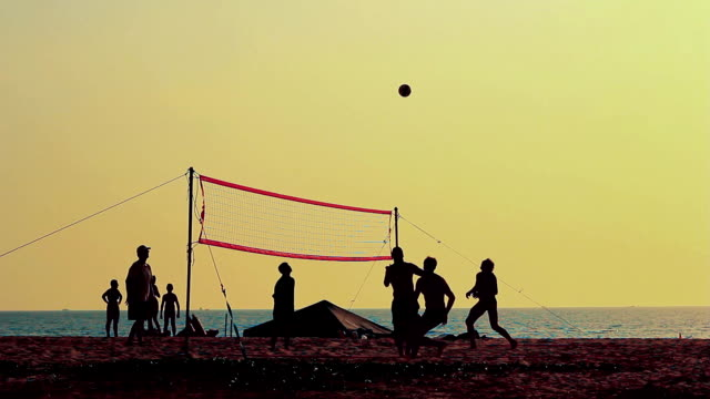 Volleyball-silhouette – Video