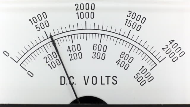 DC Voltage analogue power supply  high voltage sign stock videos & royalty-free footage