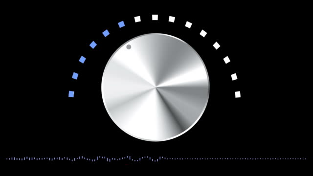 Volume Knob Moving with Sound Waves