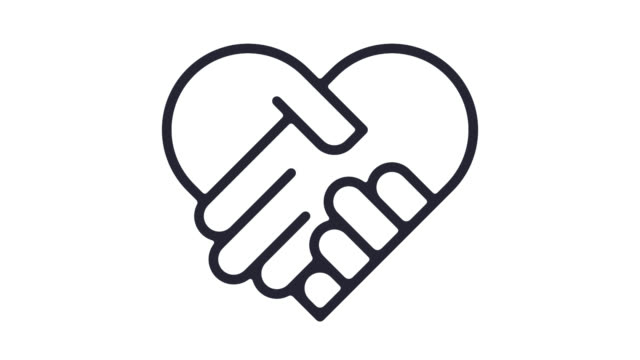 Volunteerism Line Icon Animation with Alpha