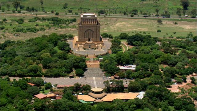 Voortrekker Monument   - Aerial View - Gauteng,  City of Tshwane Metropolitan Municipality,  City of Tshwane,  South Africa video