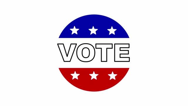 Vote batch isolated on white background