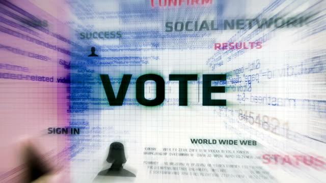 vídeos y material grabado en eventos de stock de botón de voto (blanco) - voting