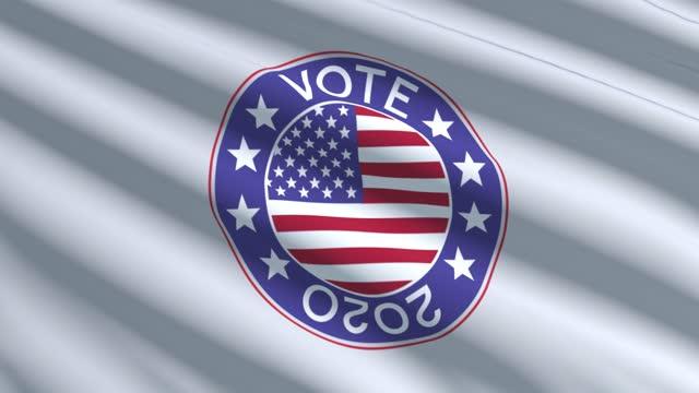 Vote Election 2020 Waving Flag, Vote USA 2020