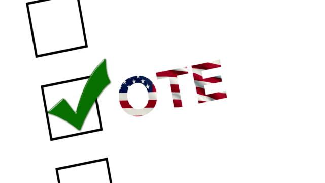 Vote for america,check box