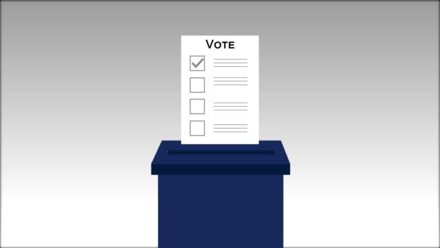 vidéos et rushes de vote et cochez la marque. élection présidentielle. faites le choix. vidéo 4k - picto urne