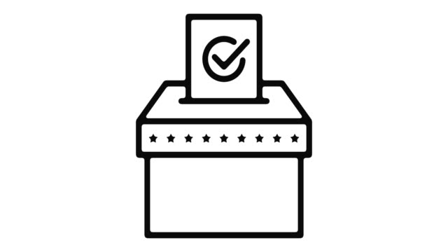 Voting Line Motion Graphic Voting line icon motion graphic animation with alpha channel. survey icon stock videos & royalty-free footage