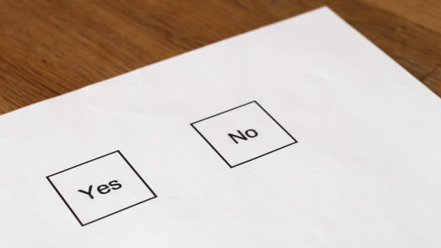 Voting Marking Yes video