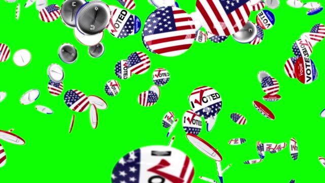 vídeos de stock, filmes e b-roll de voto alfinete caindo no chão - pin